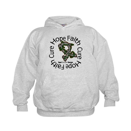 Brain Cancer Hope Flower Kids Hoodie