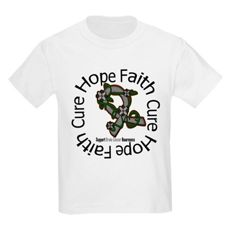 Brain Cancer Hope Flower Kids Light T-Shirt