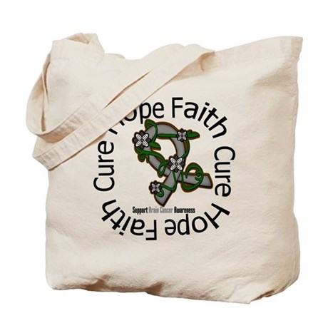 Brain Cancer Hope Flower Tote Bag