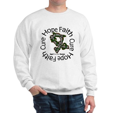 Brain Cancer Hope Flower Sweatshirt