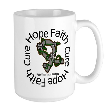 Brain Cancer Hope Flower Large Mug