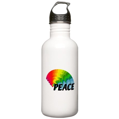 Rainbow Peace Stainless Water Bottle 1.0L