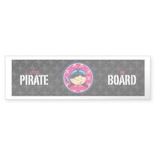 Cute Bandana Pirate Bumper Sticker