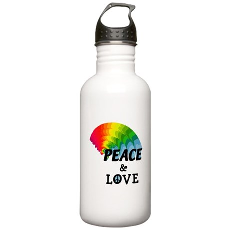 Rainbow Peace and Love Stainless Water Bottle 1.0L
