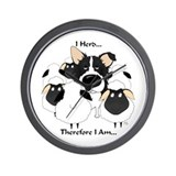 Border Collie - I Herd Wall Clock