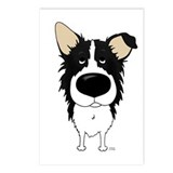 Big Nose Border Collie Postcards (Package of 8)