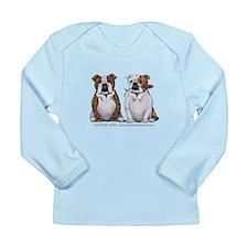 Bulldog Romance Long Sleeve Infant T-Shirt