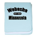 Wabasha Established 1826 baby blanket