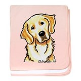 Golden Retriever Portrait baby blanket