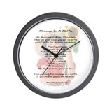 Amy's Message In A Bottle Wall Clock