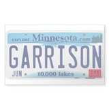 Garrison License Plate Decal