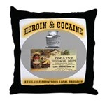 Cocaine & Heroin Throw Pillow