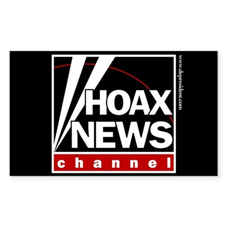 Hoax News Rectangle Sticker