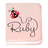 Ladybug Ruby baby blanket