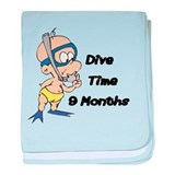 Dive Time baby blanket
