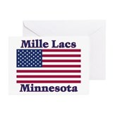 Mille Lacs US Flag Greeting Cards (Pk of 20)