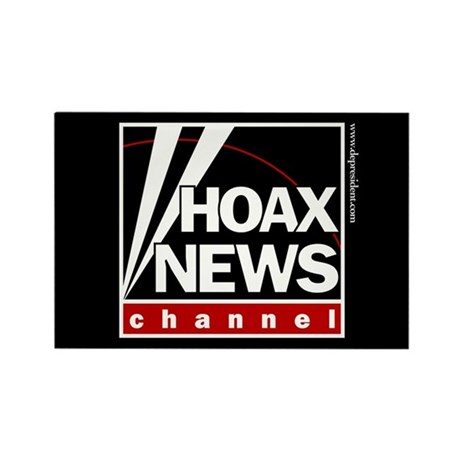 Hoax News Rectangle Magnet