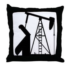 Pumpjack Throw Pillow