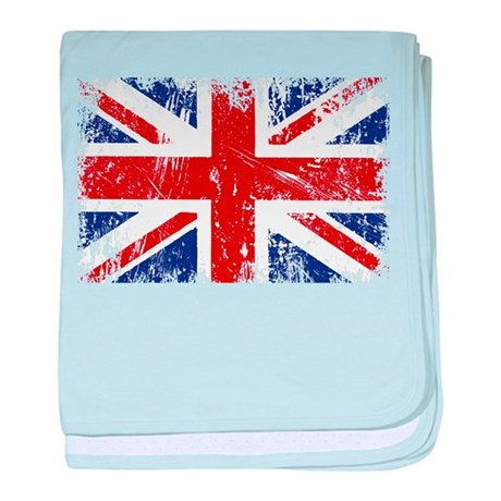 British Flag Punk Grunge baby blanket