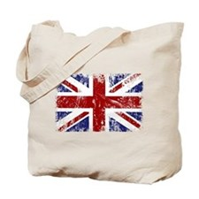 British Flag Punk Grunge Tote Bag