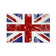 British Flag Punk Grunge Rectangle Magnet (100 pac