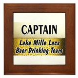 Mille Lacs Beer Drinking Team Framed Tile