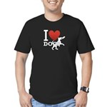 I Love Dogs Men's Fitted T-Shirt (dark)