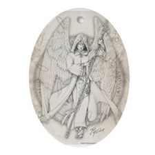 Archangel Raphael Ornament (Oval)