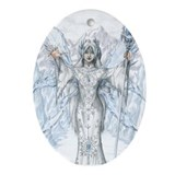 Winter Faerie Ornament (Oval)