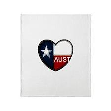 Austin Heart Throw Blanket