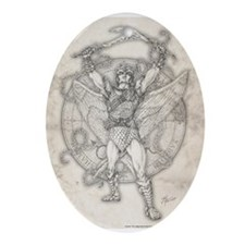 Archangel Camael Ornament (Oval)