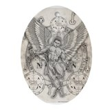 Archangel Zadkiel Ornament (Oval)