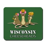 Wisconsin Cheesehead Mice Mousepad