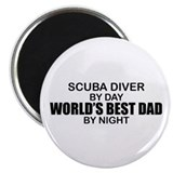 World's Greatest Dad - Scuba Diver Magnet