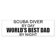 World's Greatest Dad - Scuba Diver Bumper Sticker
