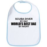 World's Greatest Dad - Scuba Diver Bib