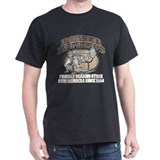 POWERLIFTERS SCARE ME Black T-Shirt