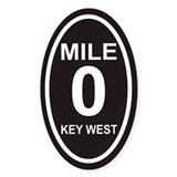 Mile Zero Key West Euro Oval Decal