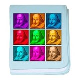 Shakespeare Pop Art baby blanket