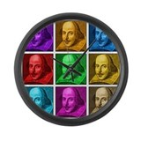 Shakespeare Pop Art Large Wall Clock