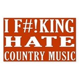I Hate Country Music sticker