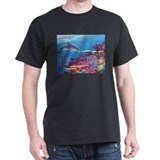Funny Dolphins painting T-Shirt