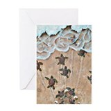 Turtle Hatchlings Greeting Card