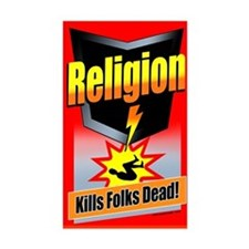 Religion: Kills Folks Dead! Decal