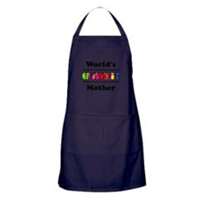 World's Grooviest Mother Apron (dark)