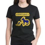 I Don't Give A Rat's Ass Women's Dark T-Shirt