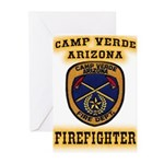 Camp Verde Fire Dept Greeting Cards (Pk of 10)