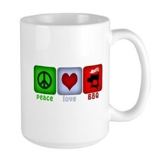 Peace Love and BBQ Coffee Mug