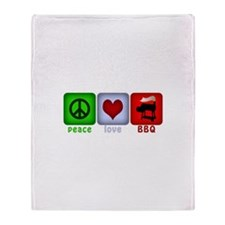 Peace Love and BBQ Throw Blanket