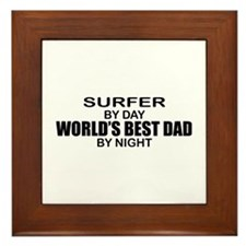World's Greatest Dad - Surfer Framed Tile